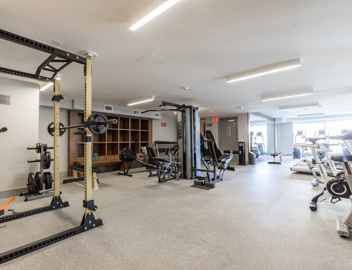 Fitness studio with everything you will need